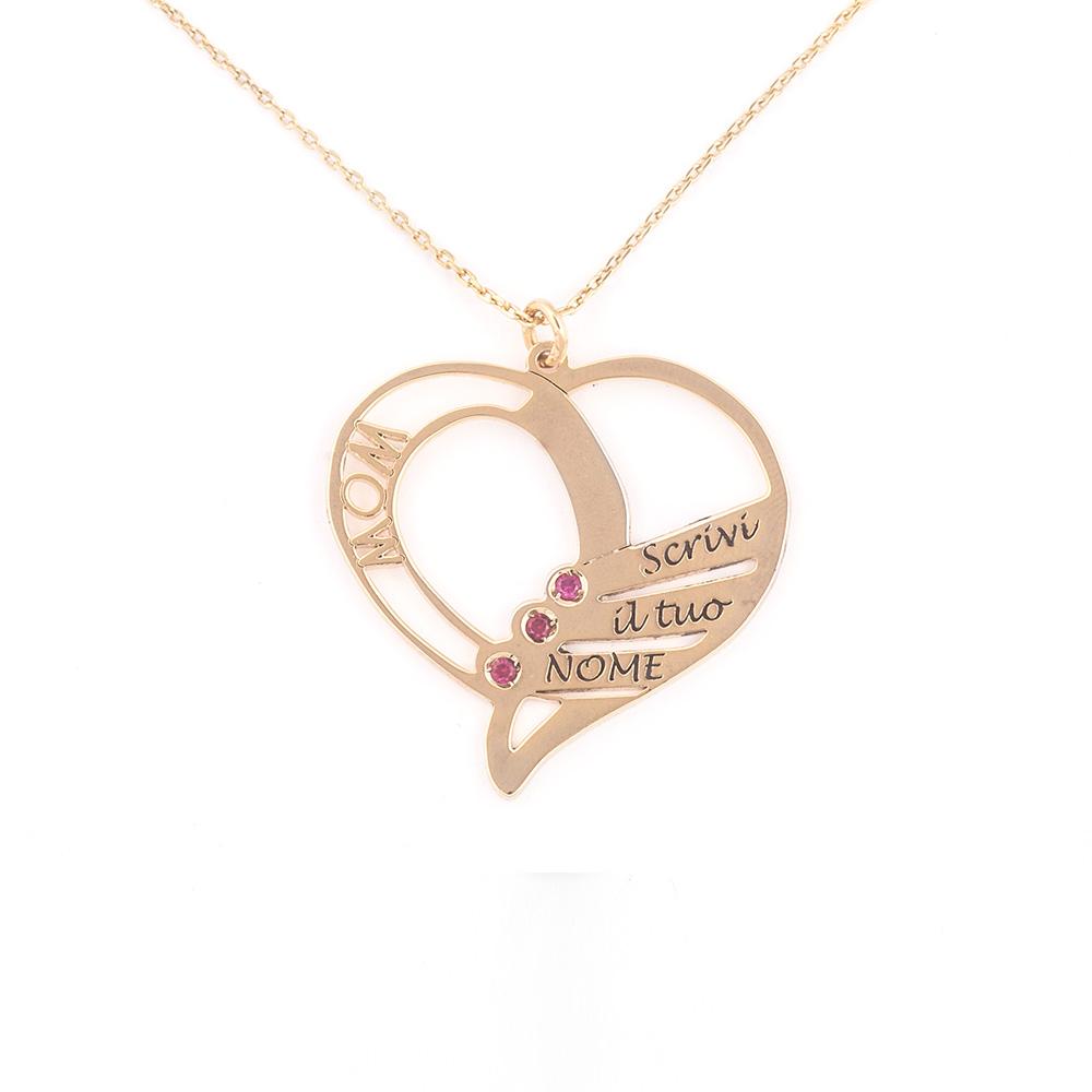 codice promozionale 59c4a 7963f Collana per la Mamma in oro 18 carati